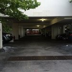 Parking garage - tight spaces but outdoor parking is also available