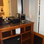 Fridge/coffee area - in room.