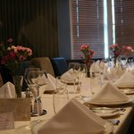 Our private dining area caters for up to 18 people