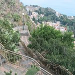Steps into Taormina from near Sole Castello Hotel.