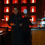 Amit, our server and Sujan the chef.