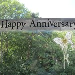 Our anniversary banner beautiful