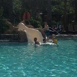 small slide at the Kidani pool