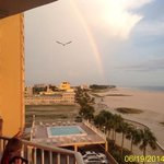 Rainbow looking south from balcony!
