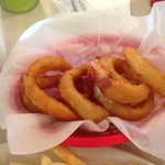 The onion rings were made of