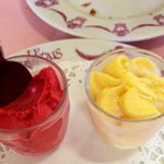 Il dessert due sobetti fruit passion e framboise