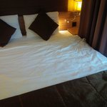 Bed sheet was not properly cleaned, it looked messy when I returned to the hotel in the evening.
