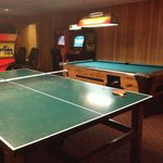 Game room. We played ping pong. That's free. Others may not be.