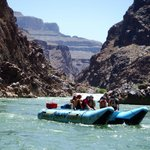 On the river with a few other Haulapai whitewater boats