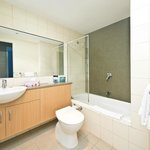 7. main bathroom and private laundry