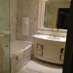 The spacious bathroom, separate shower/tub. Toilet in adjoining room