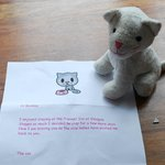 Toy returned to our child - sent special delivery with sweet note!