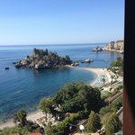 The view of Isola Bella from our balcony