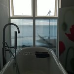 Sea view from the roll top bath (Suite 1)