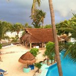 View of the palapa area from our room # 332