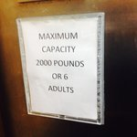 Sign in Elevator- Too funny! It's for real!