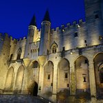 palais des papes at night, 5 min walk from hotel