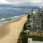 Balcony view down to Surfers Paradise