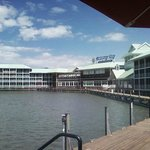 View of the bay side rooms from TGI Friday