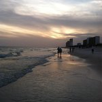 Sunset on the beach in front of the Palmetto.