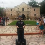 In front of the Alamo