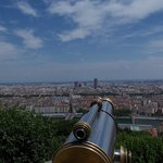 view over Lyon from Basilica