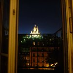 view from the window at night