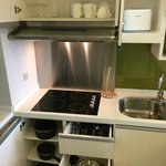 Our unit comes with a fully equipped kitchenette.