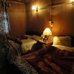 Dimly lit, but comfortable rooms