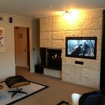 Lovely fireplace and TV/sound system