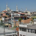 View for the terrace to Sultan Ahmet Mosques