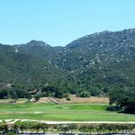 Nice views of the golf course and mountains.