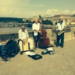 jazz players on the bridge