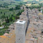 View from the highest tower in San Gimignano.Hotel Sovestro is to the right of this scene.