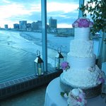 view from wedding reception area at