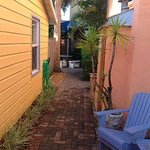 Walkway to table/garden/Tiki Bar