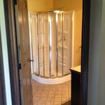 One of three full bathrooms in room p023, perfect for our Bachlorette party needs!