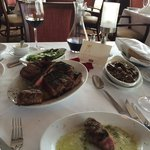 Porterhouse for two!! I wasn't crazy about the asparagus, but my husband loved it!!