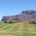 Hole #3 goes right at Superstition Mountain!