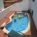 Relax in our swimming pool after a long day surfing