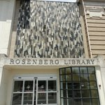 The entrance to the Rosenberg Library
