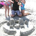 Bay Watch Sandcastle Contest winners!!  Prize: snowcones!