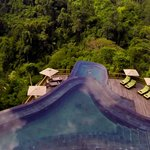Our world-famour twin level infinity pools #worldsbestpool
