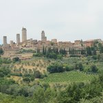 View San Gimignano from our lovely walk to the winery