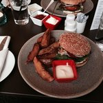 burger at hotel restaurant