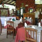 Ivan and the dining / reception area