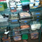 One of the food lockers