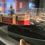 One of the dozens of ship models in the museum