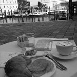 Enjoy breakfast outside Hotel Antiche Figure