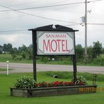 Sign for the motel